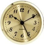 "Clock Fit-Up - 3 1/2"" - Gold/Arabic"