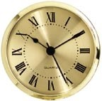 "Clock Fit-Up  - 3 1/2"" - Gold/Roman"