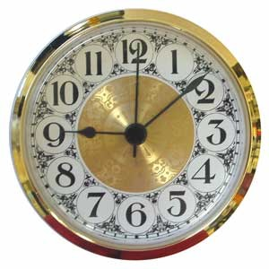 "Clock Fit-Up - 3 1/2"" - Fancy/Arabic"