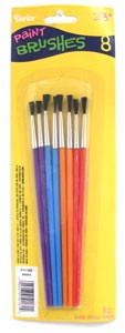 Brush Set Assorted Colours - 8pc