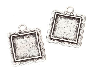Frame Charms Square - 31mm - 2pc