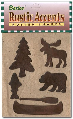 Rusty Cottage Shapes - 6pc