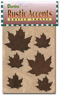 Rusty Leaves Assorted Pkg - 6pc