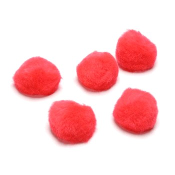 "Pom-Poms - 1/2"" Red - 100pc"