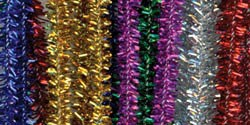 "Chenille Stems Tinsel Multi (25pc) - 12"" x 6mm"