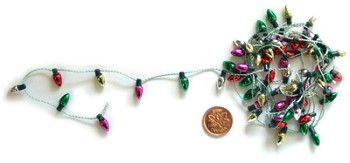 Light Bulb Garland on String - 72""