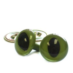 Cat Eyes-Green 18mm 2pc