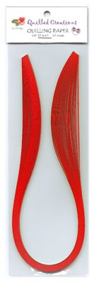 "Quilling Strips Red - 1/8"" x 17"" - 50pc"