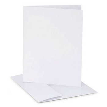 "Card with Envelope (12pc) 4.25"" x 5.5"" White"