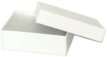 "Gift Boxes White w/filling (6pc) - 3"" x 2"" x 1"""