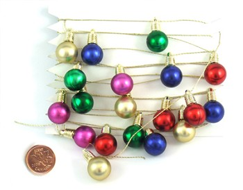 Shiny Bulb Garland on String - 78""