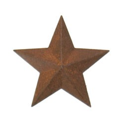 Rustic Tin 2D Stars (14pc) - Assorted Sizes