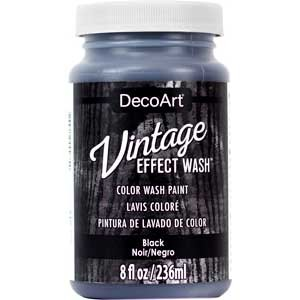 Vintage Effect Wash 8oz - Black