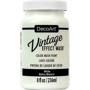 Vintage Effect Wash 8oz - White