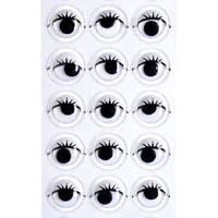 Sticky Back Eyes w/lashes (33pc) - 10mm