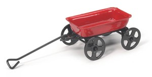 "Mini Small Red Wagon - 3 1/4"" long"