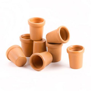 "Clay Pots 5/8"" tall - 8pc"