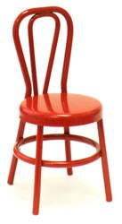 Red Metal Chair - 2 1/4""
