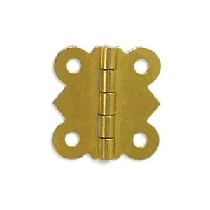 "Brass Plated Hinge-1 1/4""x1 1/4"""