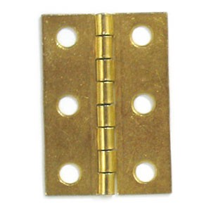 "Brass Plated Hinge - 2"" x 1 3/8"""