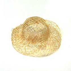"Sinamay Hat-Natural 1"" - 5pc"