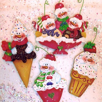 Holly Hanley - Sweet Treats Snowman Ornies Packet