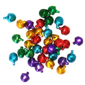 "Jingle Bells-Assorted Colours - 5/16"" - 100pc"