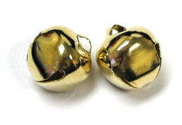 "Jingle Bells - 1/4"" Gold 20pc"