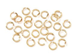 Jump Ring - 4mm Gold - 40pc