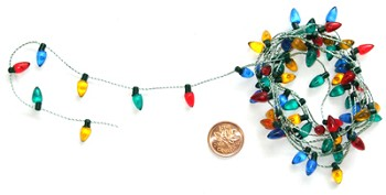 Transparent Bulb Garland - 72""