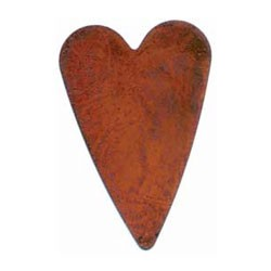 "Rusty Primitive Heart-2 1/2"" - 3pc"