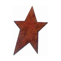 "Rusty Primitive Star-1 3/4"" - 3pc"
