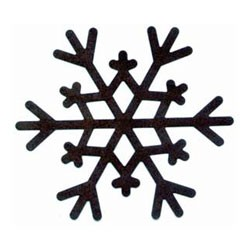 "Rusty Country Snowflakes-1 1/2"" - 5pc"