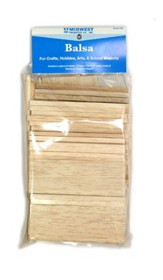 Balsa Pieces - Assorted (72 cu. in.)