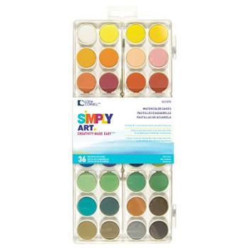 Watercolour Paint Cakes - 36 colours