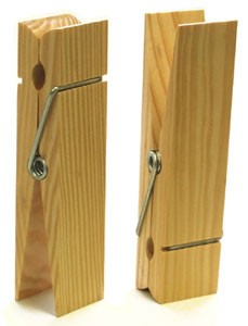 "Wooden Clothespin - 9"" tall"