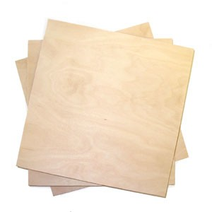 "Plywood - 1/8"" thick Baltic Birch - 11.5"" x 11.5"""