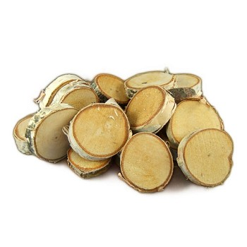 "Medium Birch Round Cuts - Approx 1"" to 1 1/2"" dia - 20pc"