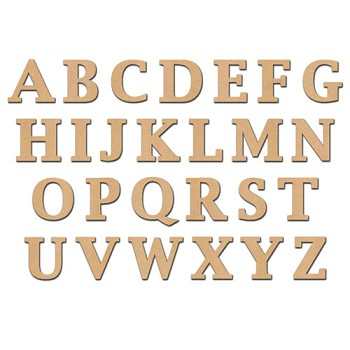 "26pc Set of 6"" tall Serif Font Letters"