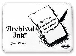 Archival Ink Pad - Jet Black #0