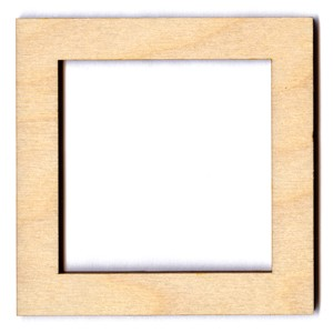 "Square Frame - 3 1/2"" x 1/2"" border (2 1/2"" inside)"