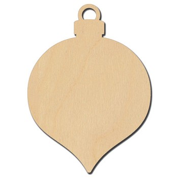 "Hanging Teardrop Ornament - 2 1/2"" wide"