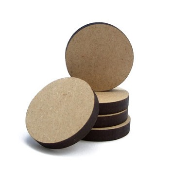 "Circle - 2"" wide x 1/4"" thick MDF"
