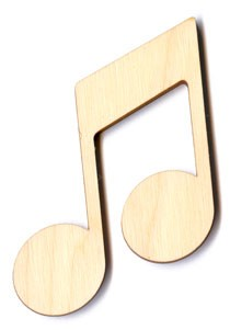 "Double Music Note - 3 1/4"" tall"