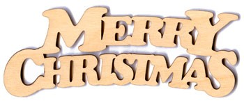 Merry Christmas Banner - 4""