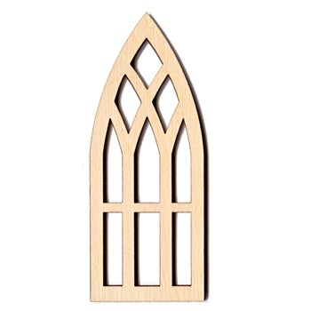 "Church Window - 2"" x 5"""