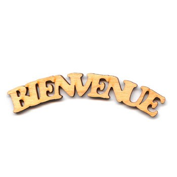 "Bienvenue Sign - 3 3/4"" Frown"