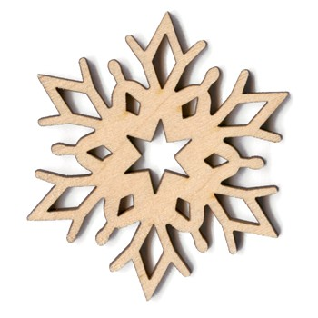 Alpine Snowflake - Scroll - 2""