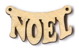 "Hanging Noel Sign (BTV#10) - 1 1/2"" wide"