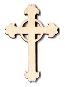 Ornate Cross with Ring - 2 1/8""